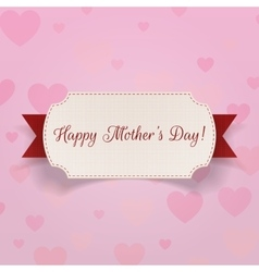 Happy mothers day realistic banner with ribbon vector