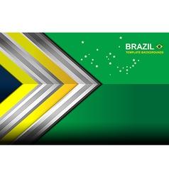 Brazil color geometric background vector