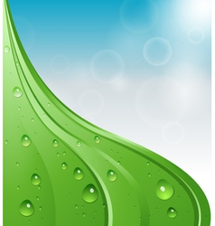 abstract background with water drops and sky vector image