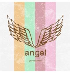 Angel icon retro background vector