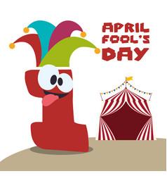 April fools day festive celebration vector