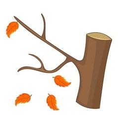 Autumn tree icon cartoon style vector image