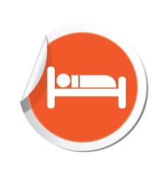 Bed orange label vector