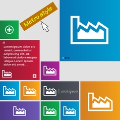 Chart icon sign buttons Modern interface website vector image