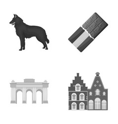 Chocolate cathedral and other symbols of the vector