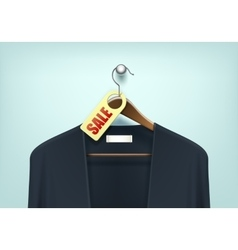 Clothes hanger with cardigan sale blank tag label vector