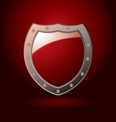 decorative shield vector image vector image