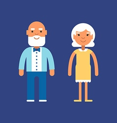 Elderly couple generations and family concept vector