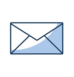 envelope mail isolated icon vector image vector image