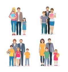 Family Flat Concept vector image