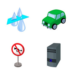 filter car and other web icon in cartoon style vector image vector image