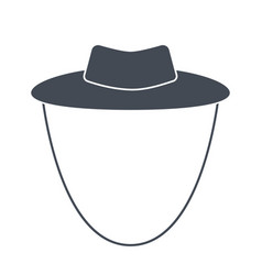 garden or cowboy hat isolated vector image vector image
