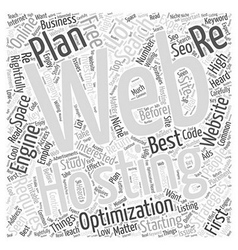 Get the best web hosting plan word cloud concept vector