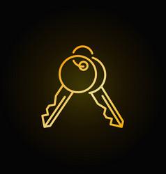 Golden keys icon vector