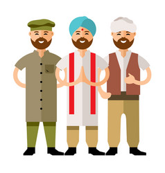 Group of people flat style colorful vector