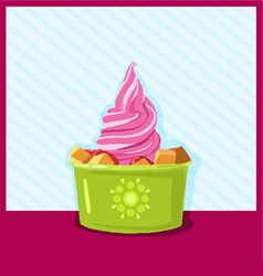 Ice-cream berries and fruits vector