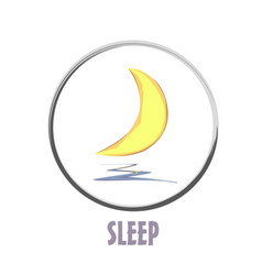 Icon basic sleep under the moon shard vector