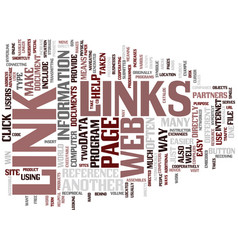 links text background word cloud concept vector image