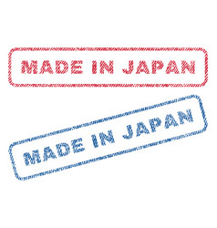 Made in japan textile stamps vector