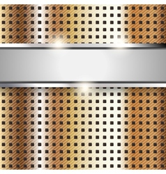 Metal surface copper iron texture background vector image vector image