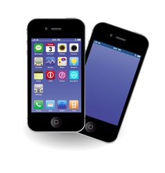 Modern mobile phones vector