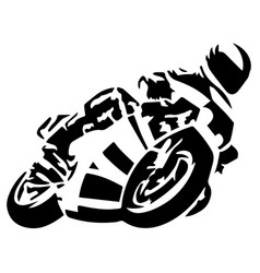 motorcycle racer celebration winner abstract vector image