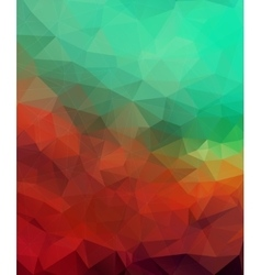Multicolor triangle mosaic background vector image vector image