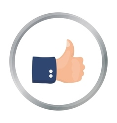 Patriotic thumb up icon in cartoon style isolated vector image vector image