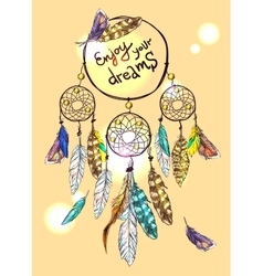 poster dream catcher vector image vector image