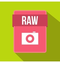 RAW file icon flat style vector image vector image