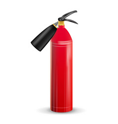 red fire extinguisher metal red fire vector image
