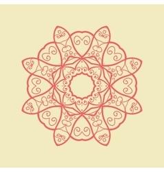 Red mandala pattern print vector