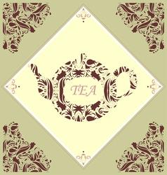 Retro teapot tile vector