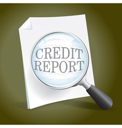 Reviewing a Credit Report vector image vector image