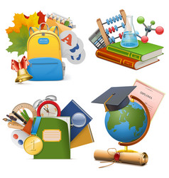 School Concept Icons vector image