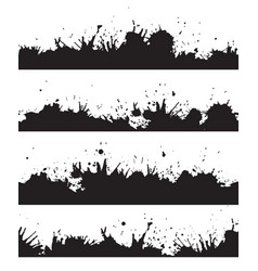seamless grunge border with splashes and drops to vector image vector image