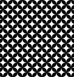 Seamless monochrome curved shape pattern design vector image vector image