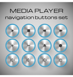 Set of media control buttons vector image vector image