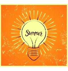 Typographic retro grunge summer poster vector