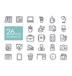 workspace outline icon workspace sign vector image vector image
