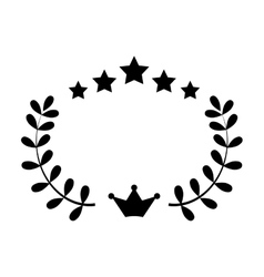 Wreath with crown vector
