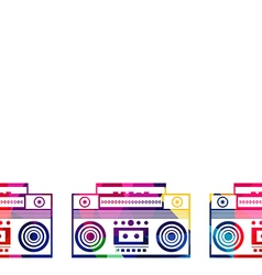 Abstract radio boombox polygon low-poly vector