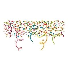 confetti explosion decoration vector image