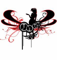 fashion silhouette sound vector image