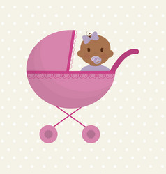 Cute baby icon vector