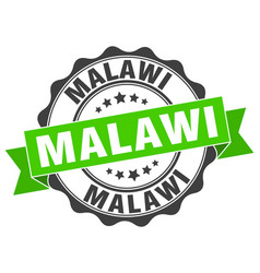 Malawi round ribbon seal vector