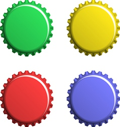 A set of bottle caps vector