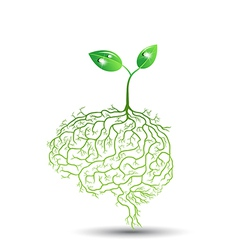 Concept of brain seedling vector