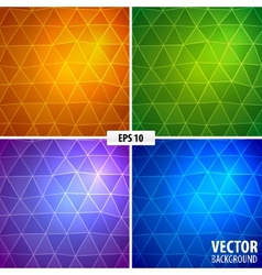 Set of 4 mosaic background vector image