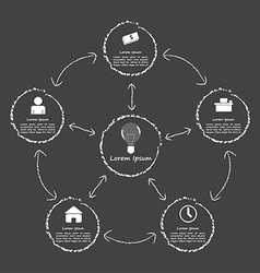 Elements of success infographic black and white s vector